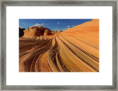 The Second Wave In The Vermillion Framed Print by Chuck Haney