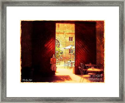 The Secret Courtyard  Framed Print by Becky Lupe