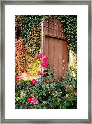 The Secret Door  Framed Print by Allan Millora