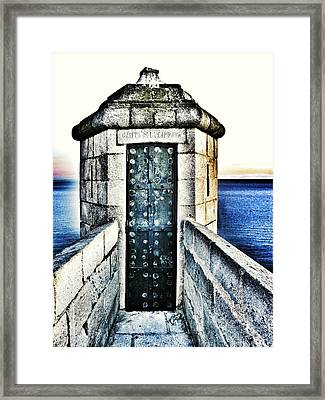 The Secret Door Framed Print