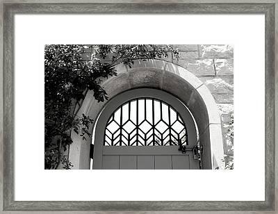 The Secret Garden Bw Framed Print by Elizabeth Sullivan