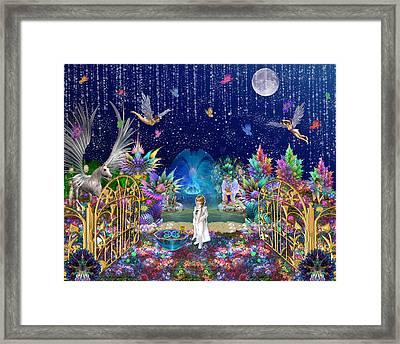 The Secret Garden Framed Print by Peggi Wolfe