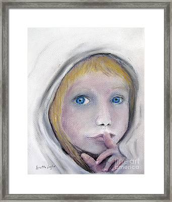 The Secret Framed Print by Loretta Luglio