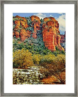 Framed Print featuring the photograph The Secret Mountain Wilderness In Sedona Back Country by Bob and Nadine Johnston