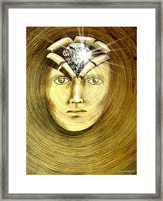 The Secret Of Existence Whereby We Were Created  Framed Print by Paulo Zerbato