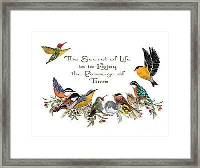 The Secret Of Life Framed Print by Alexandra  Sanders