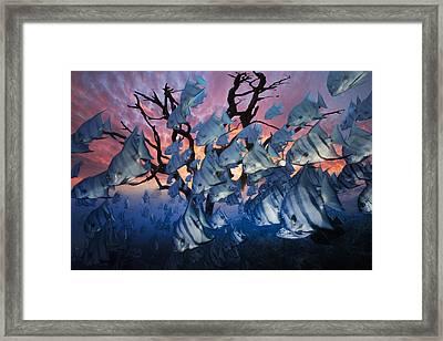 The Secret Reef Framed Print by Debra and Dave Vanderlaan