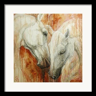 Two Horses Framed Prints
