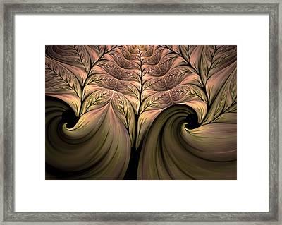The Secret World Of Plants Abstract Framed Print by Georgiana Romanovna