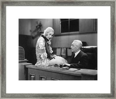 The Secretary And The Boss Framed Print by Underwood Archives