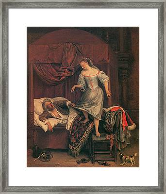 The Seduction Framed Print by Jan Steen