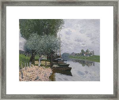 The Seine At Bougival, 1872 Framed Print
