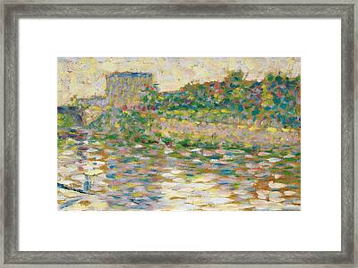 The Seine At Courbevoie Framed Print