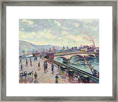 The Seine At Rouen Framed Print by Jean Baptiste Armand Guillaumin