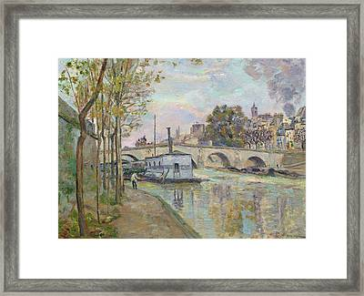 The Seine In Paris  Framed Print by Jean Baptiste Armand Guillaumin