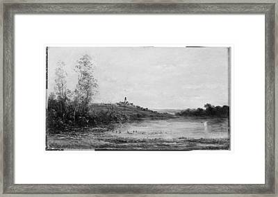 The Seine Morning Framed Print by Charles-Fran�ois Daubigny