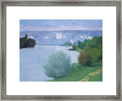 The Seine Near Les Andelys Framed Print by Felix Edouard Vallotton