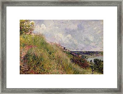 The Seine, View Of The Slopes Of By, 1881 Framed Print