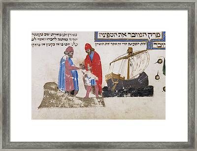 The Selling Of A Ship Framed Print by British Library