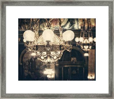 The Senate Chandeliers  Framed Print by Lisa Russo