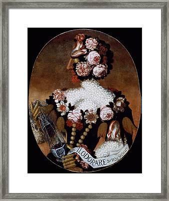 The Sense Of Smell Framed Print by Giuseppe Arcimboldo