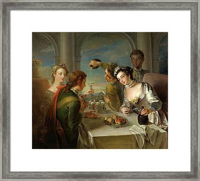The Sense Of Taste, Philippe Mercier, 1689 Or 1691-1760 Framed Print