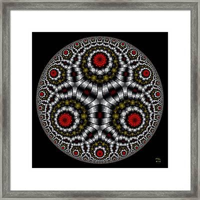 The Sentinel - Hyperbolic Disk Framed Print by Manny Lorenzo