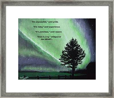 The Sentinel Of The Heart Framed Print