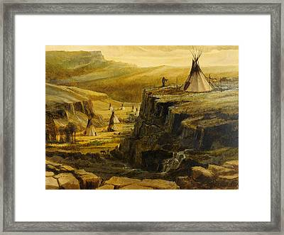 Framed Print featuring the painting The Sentry by Steve Spencer