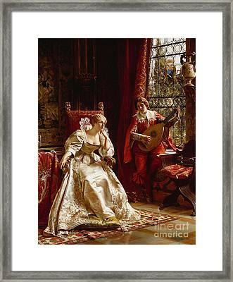 The Serenade Framed Print by Joseph Frederick Charles Soulacroix