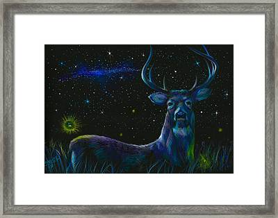 The Serenity Of The Night  Framed Print