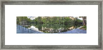 The Serenity Of The Rainbow River Framed Print by Wioletta Pietrzak