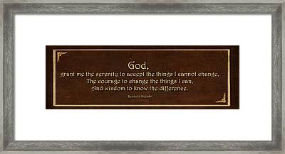 The Serenity Prayer   Framed Print by Maria Angelica Maira