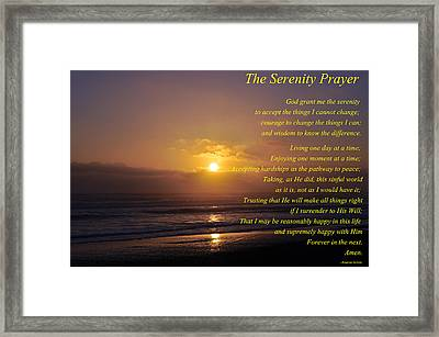 The Serenity Prayer Framed Print by Tikvah's Hope