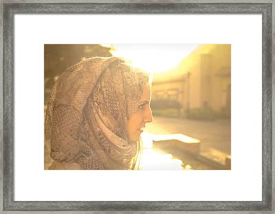 The Serian Face Framed Print by Ahmed Rashed