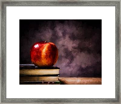 The Serious Student Framed Print