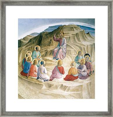 The Sermon On The Mount Framed Print by Fra Angelico