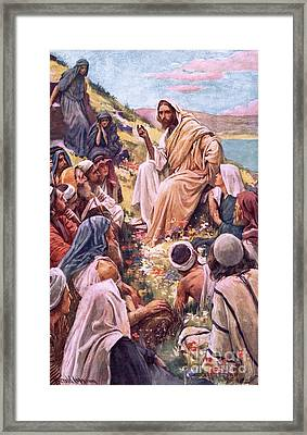 The Sermon On The Mount Framed Print by Harold Copping