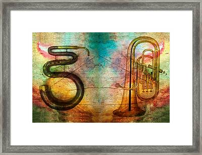 The Serpent And Euphonium -  Featured In Spectacular Artworks Framed Print by EricaMaxine  Price