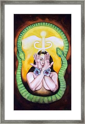 The Serpent's Gift Framed Print by Rebecca Barham