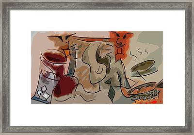 The Server Framed Print by Jose Benavides