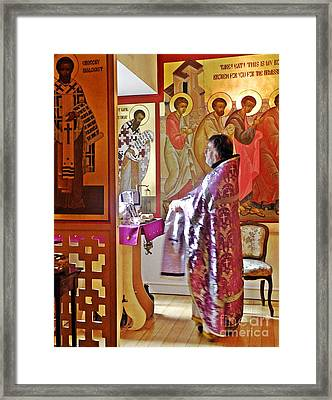 The Service Of Preparation Framed Print