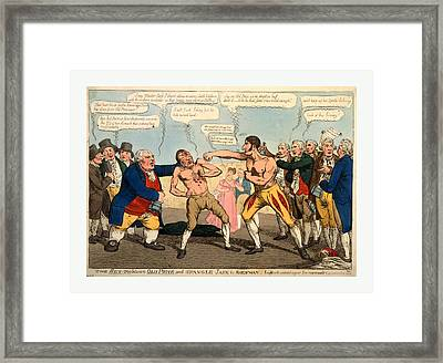 The Set-too Between Old Price And Spangle Jack The Shewman Framed Print by English School
