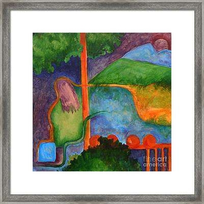 The Setting- Caprian Beauty Series 2 Framed Print by Elizabeth Fontaine-Barr