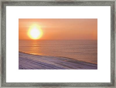 The Setting Sun Shining Through Framed Print