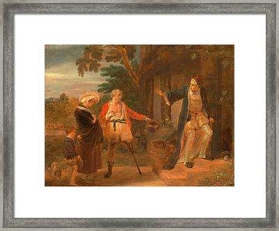 The Seven Ages Of Man The Pantaloon, As You Like Framed Print by Litz Collection