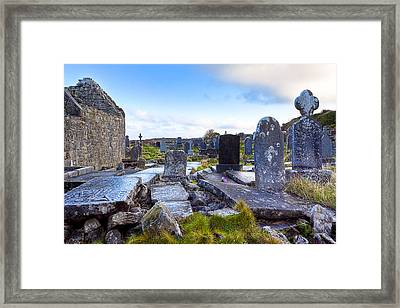 The Seven Churches Ruins On Inis Mor Framed Print by Mark E Tisdale