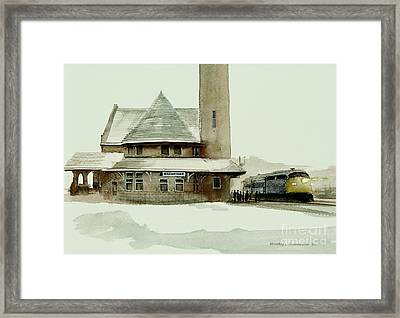 The Seven Fifteen Framed Print by Michael Swanson