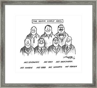The Seven Lively Arts Framed Print by Henry Martin