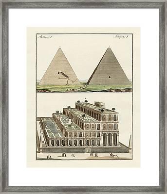 The Seven Wonders Of The World Framed Print by Splendid Art Prints